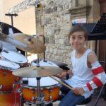 Tristan à la batterie